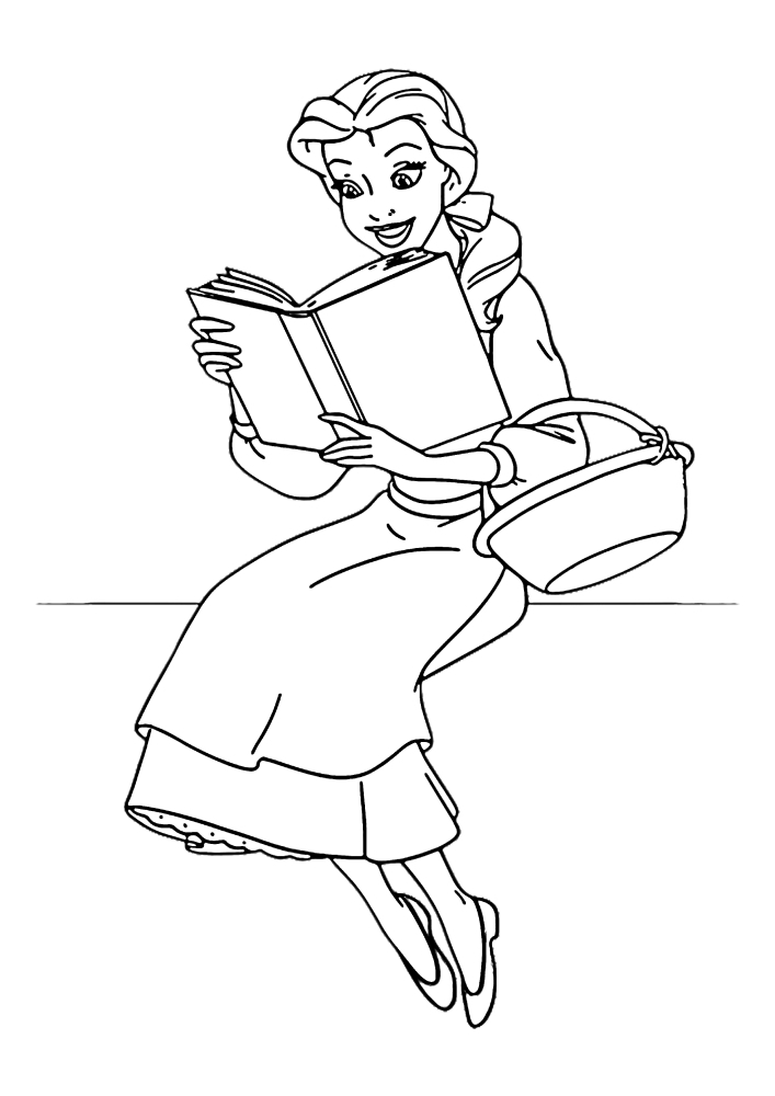 Белль читает книгу