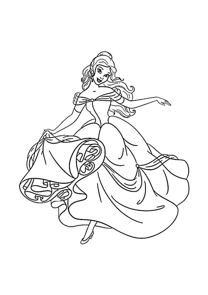Белль в модном платье