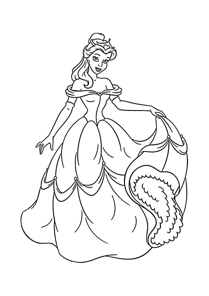 Какое красивое платье сегодня у Белль!