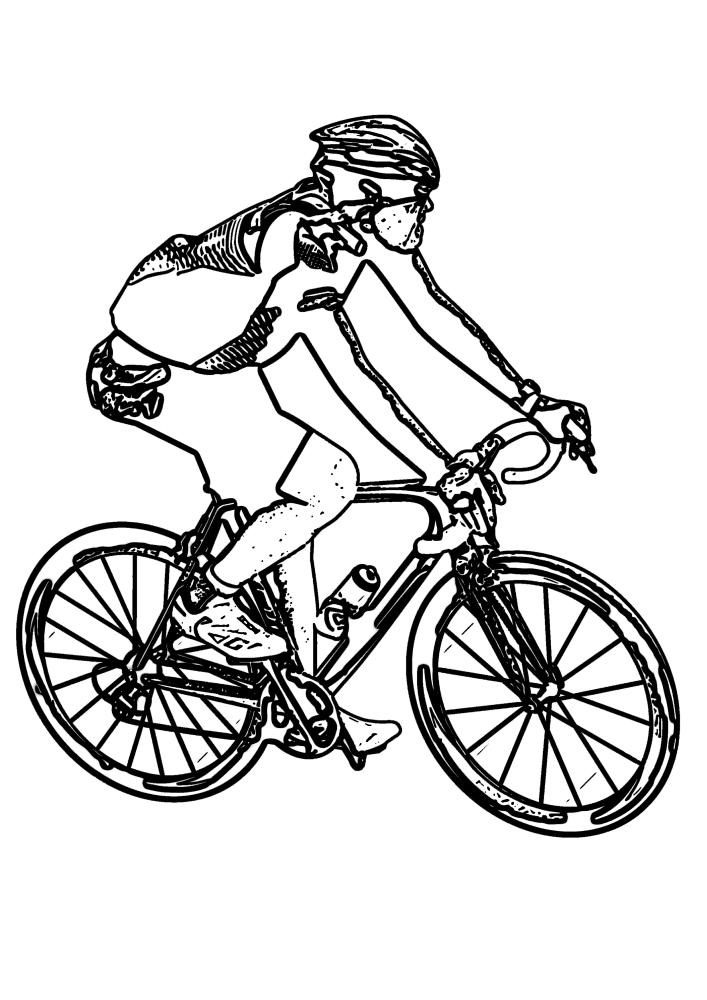 Гонщик на велосипеде