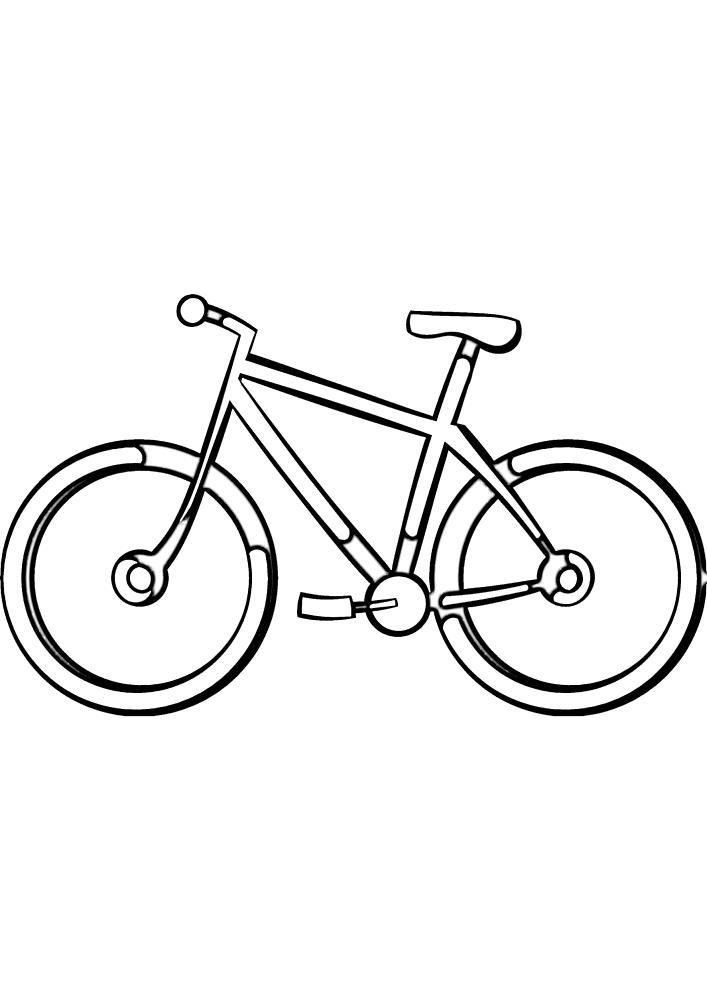 Лёгкая раскраска велосипеда