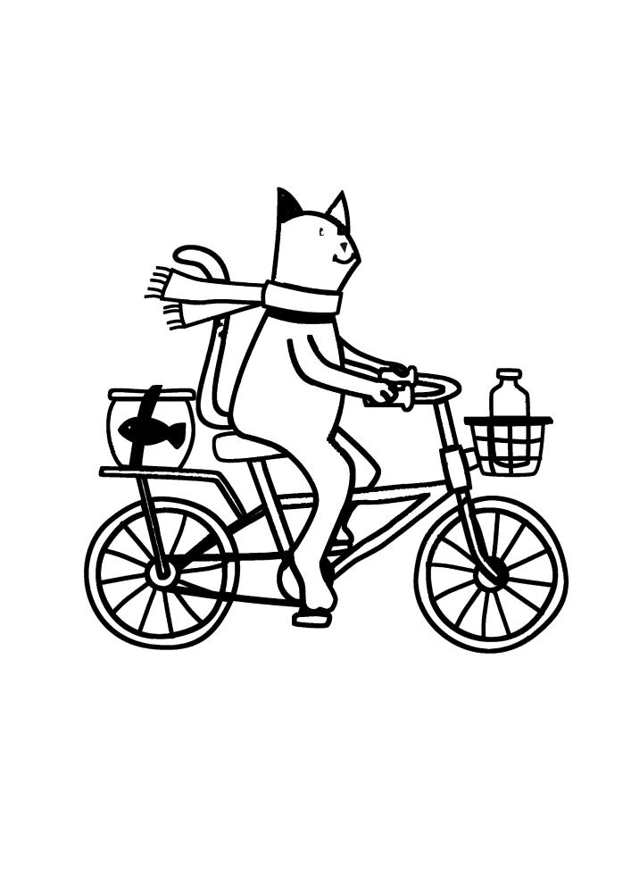 Кот едет домой