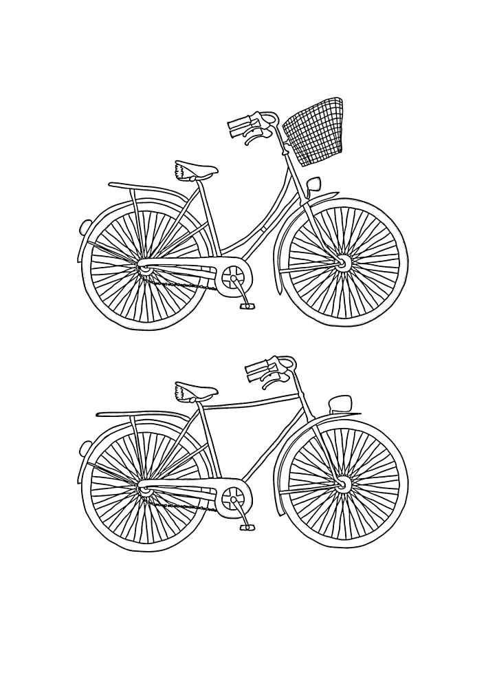 Две разные модели велосипеда