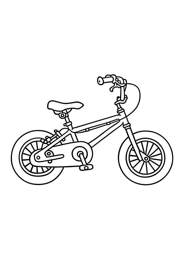 Детский велосипед - раскраска