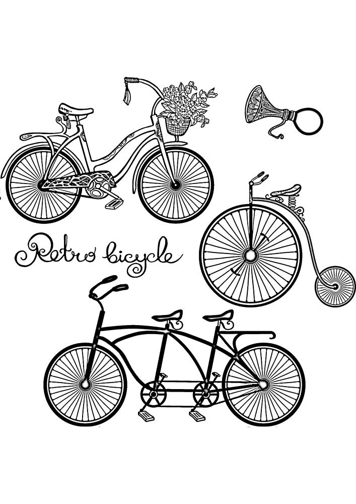 Модели велосипедов прошлых веков