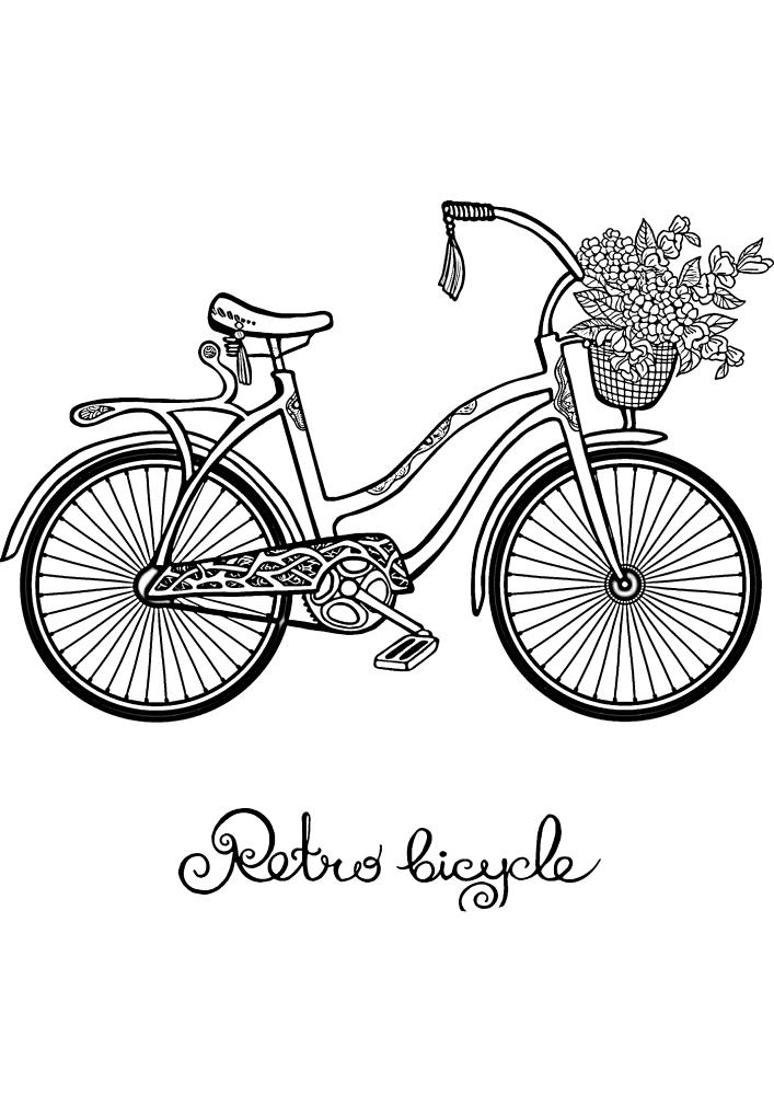 Велосипед с корзинкой чудесных цветов