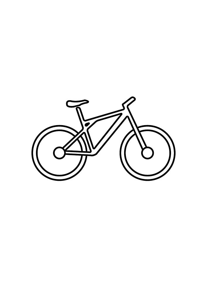 Детская раскраска велосипеда