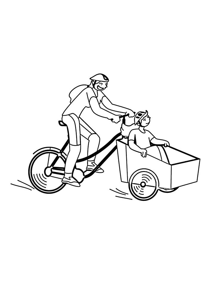 Интересное использование велосипеда