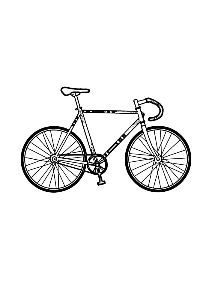 Старинная модель велосипеда