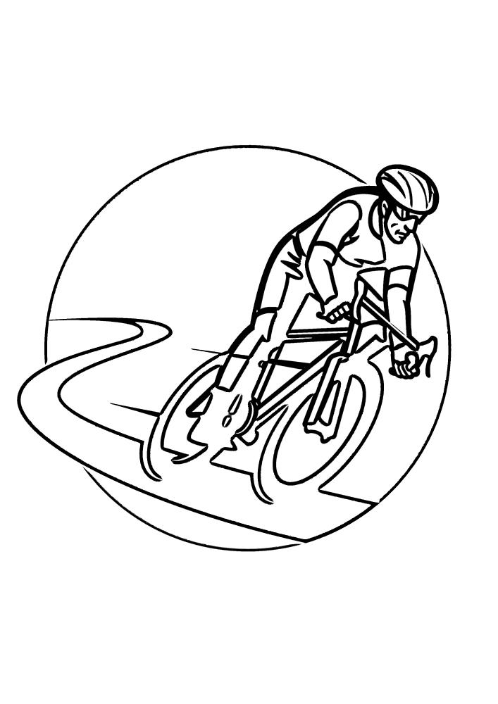 Гонщик-велосипедист