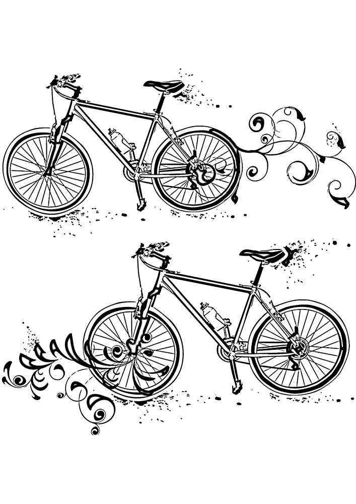 Расслабляющая раскраска с велосипедом