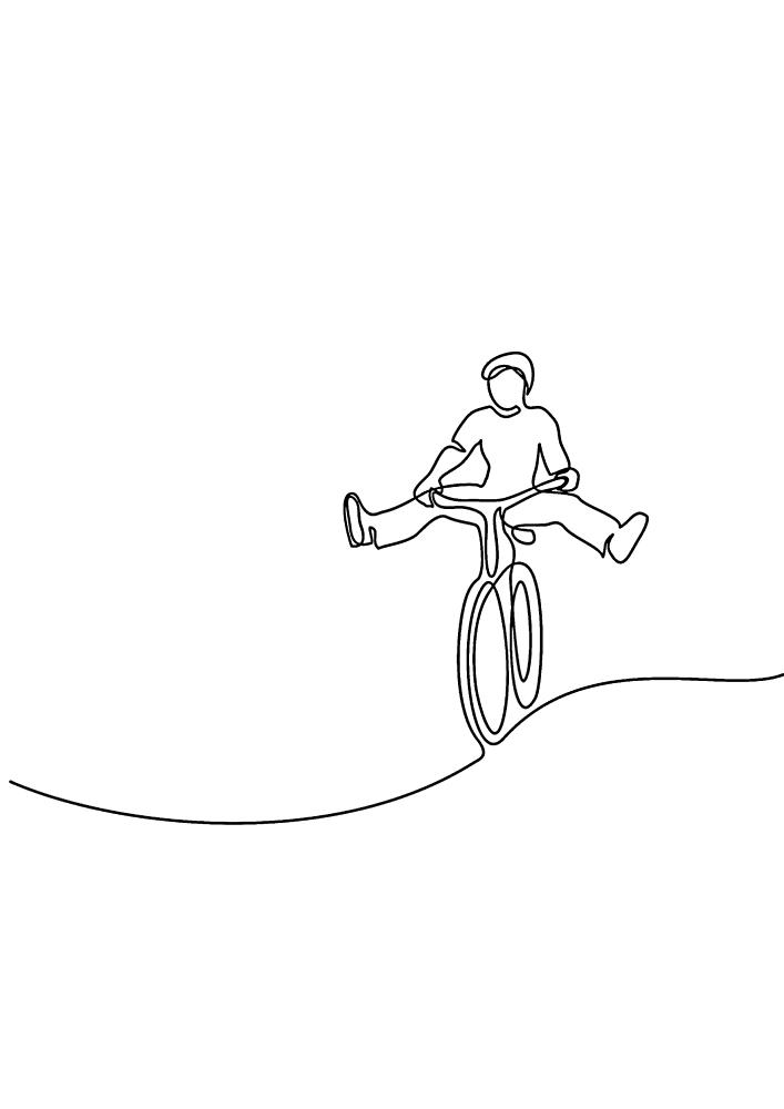 На велосипеде можно не только просто кататься, но и развлекаться!