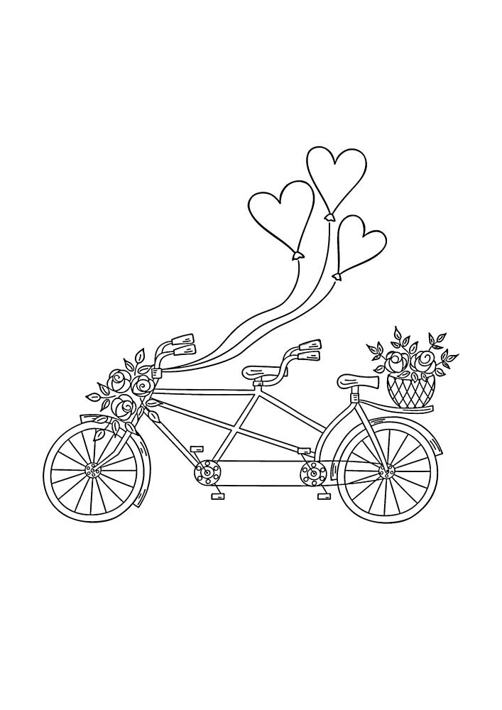 Романтический подарок, сделанный при помощи велосипеде