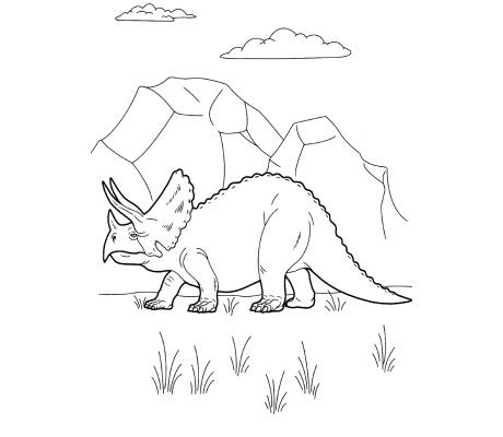 Coloriages de dinosaures à imprimer et à télécharger.