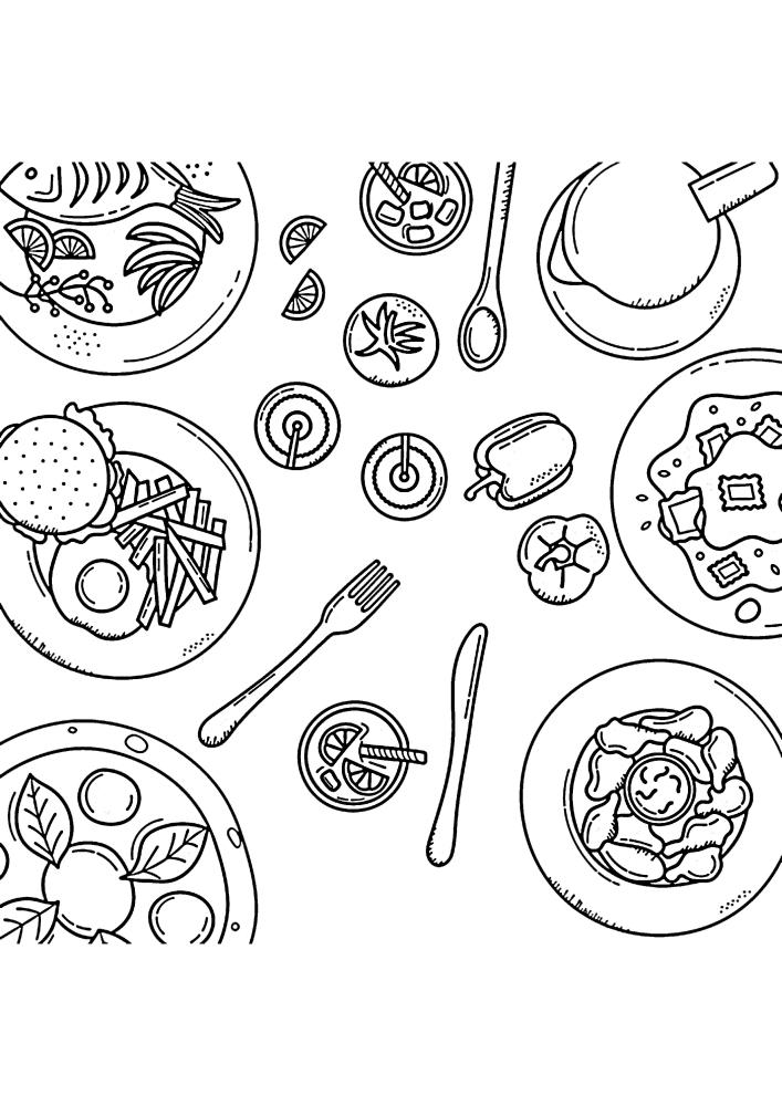 Блюда разных стран
