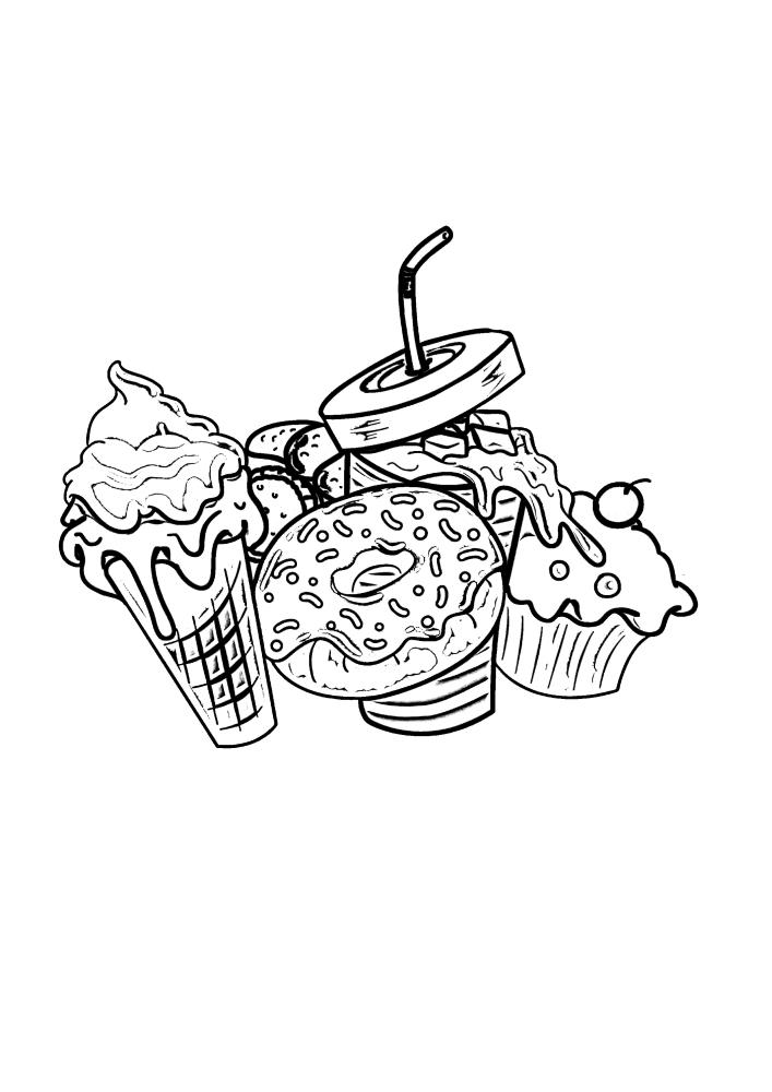 Еда для сладкоежек