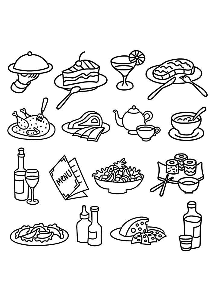 Еда, которую подают в ресторанах