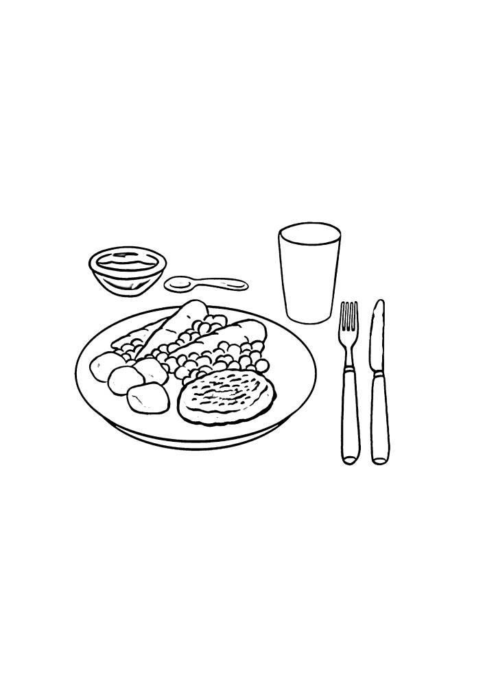 Завтрак для одного человека