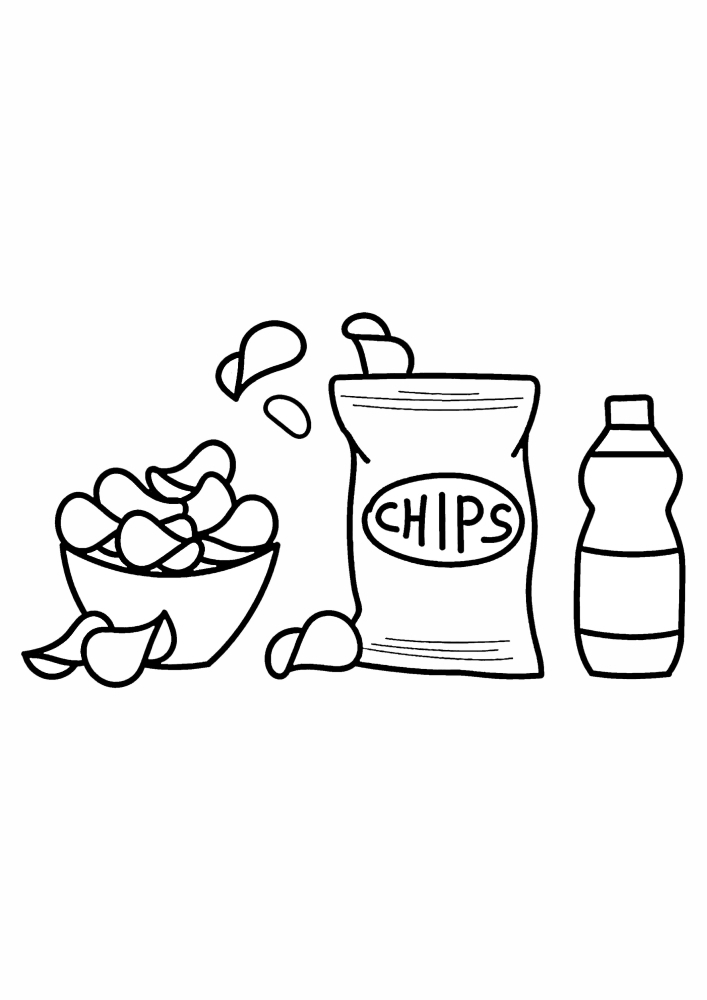 Чипсы и газировка - вредная еда