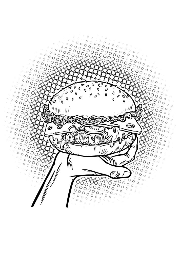 Попарт - бургер