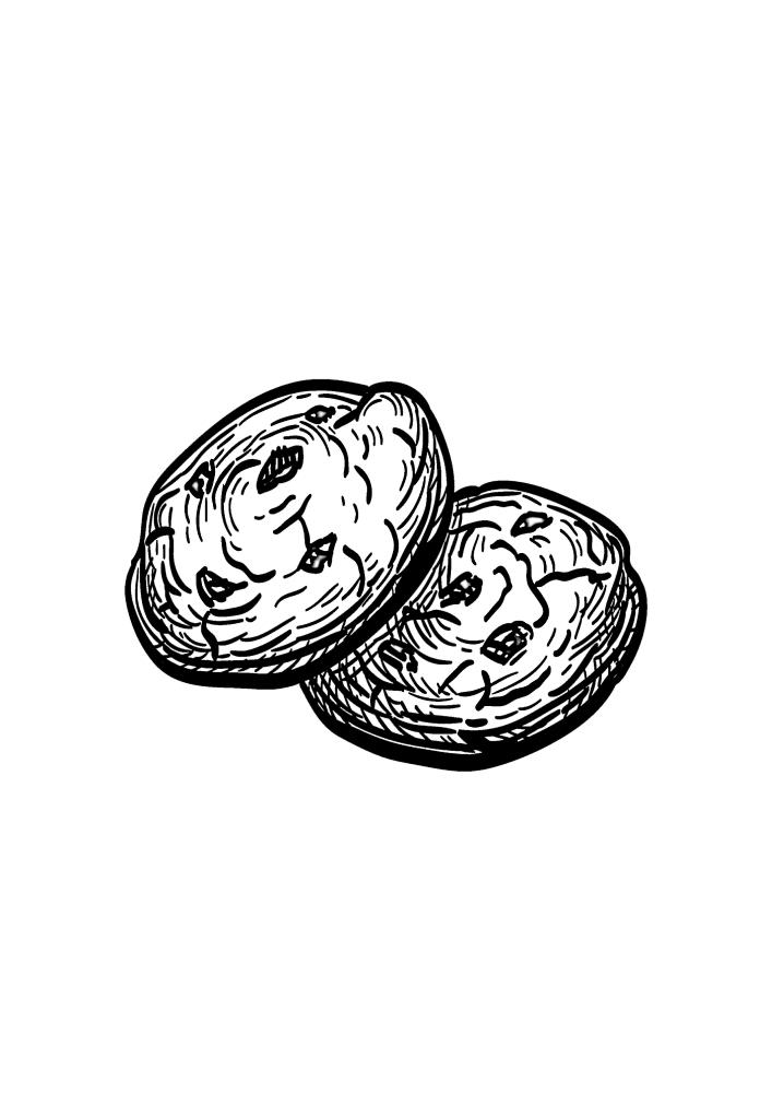 Сладкие печенья.