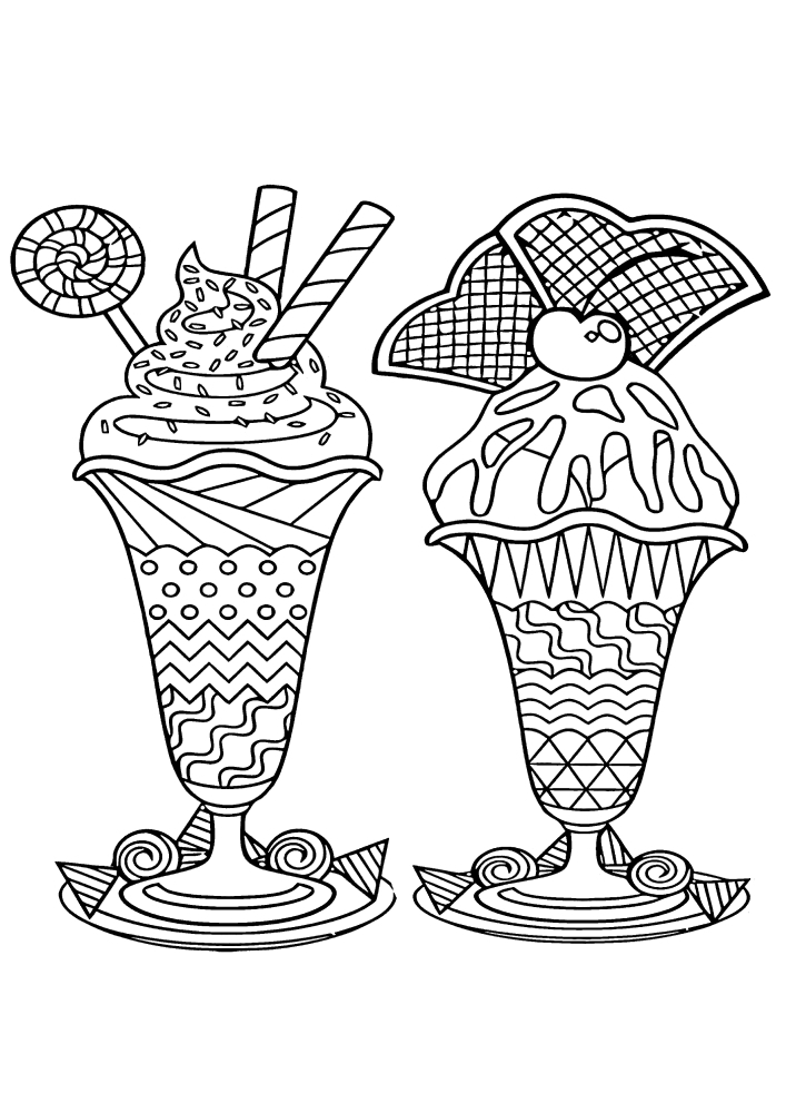 Большие порции мороженого