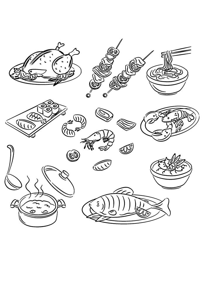 Суши, курица, лапша и многое другое
