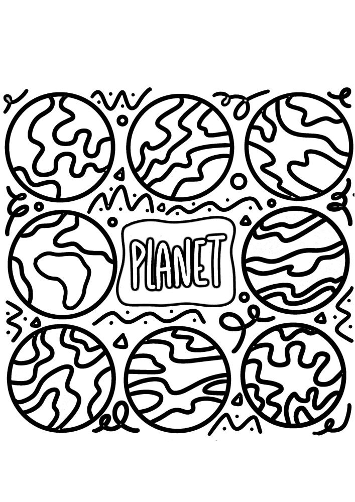 Планета с разных ракурсов
