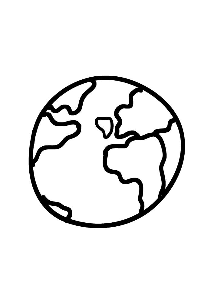 Земля - наша планета сверху