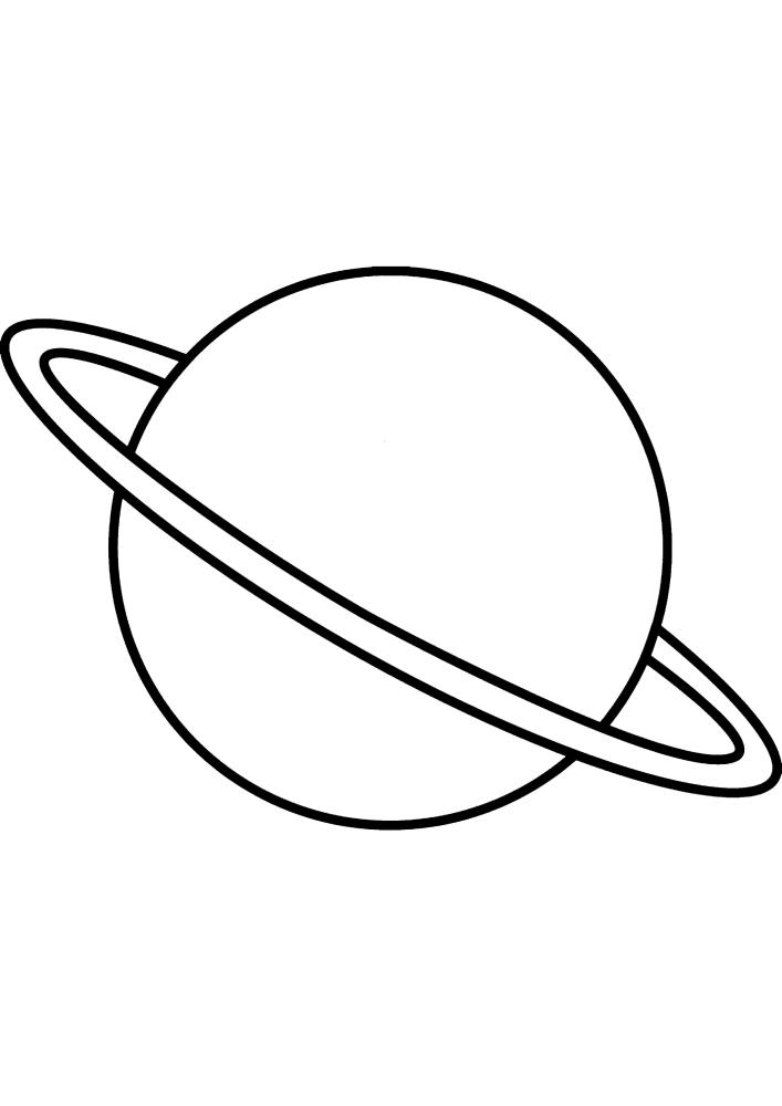 Планета с кольцами - Сатурн