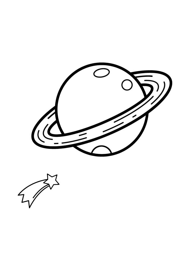 Звезда пролетает рядом с Сатурном