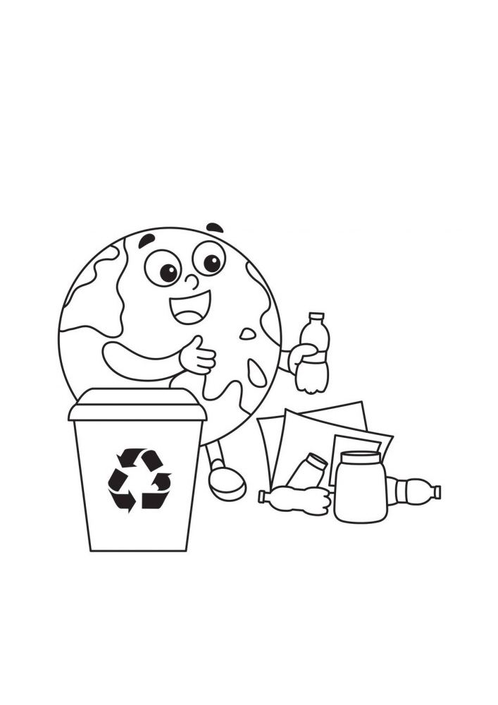 Земля убирает мусор за людьми - мусорить не хорошо.