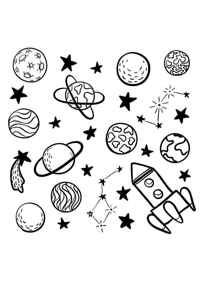 Ракета выходит в открытый космос