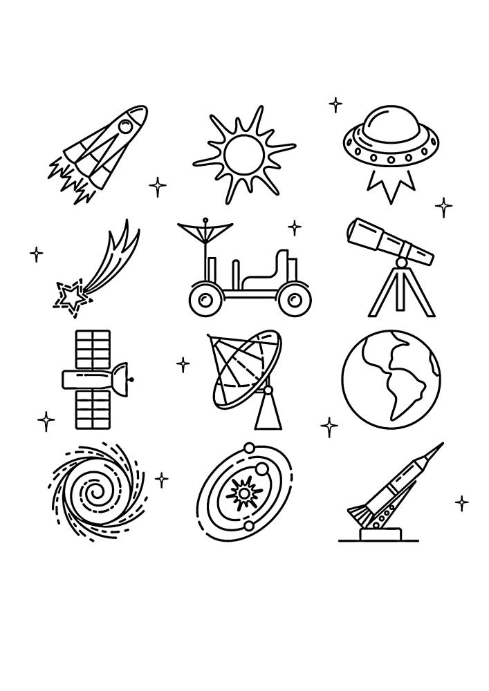 Иконки, связанные с космосом