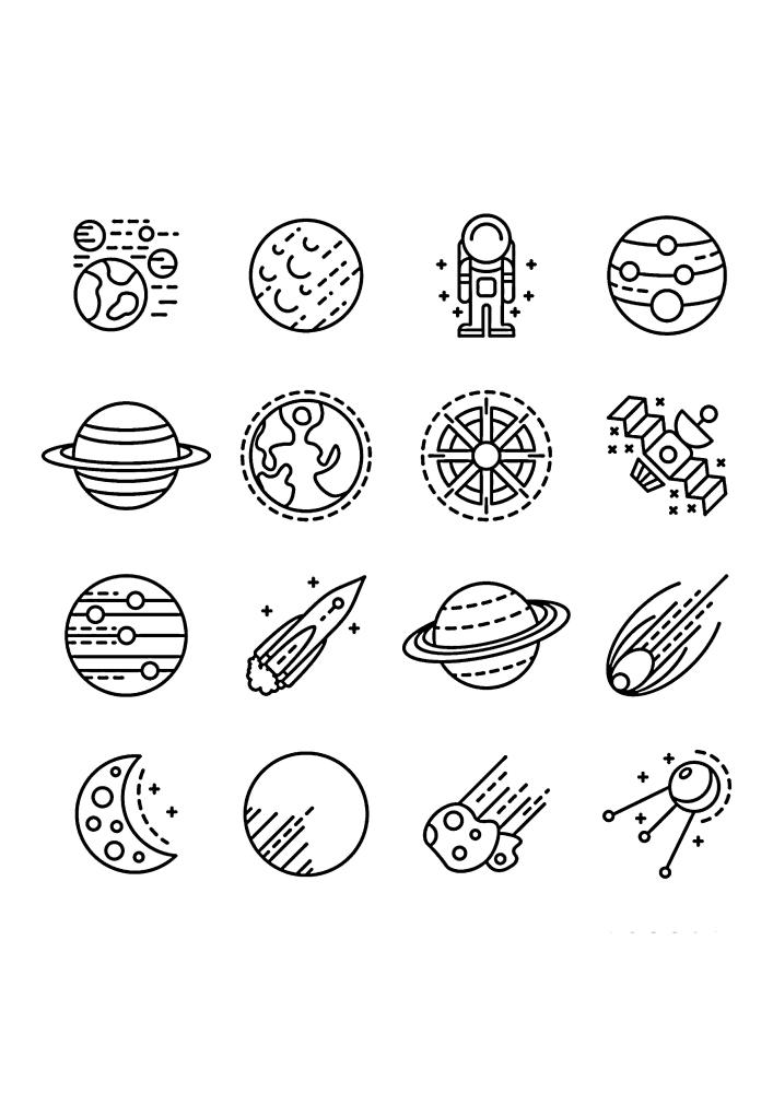 16 космических иконок