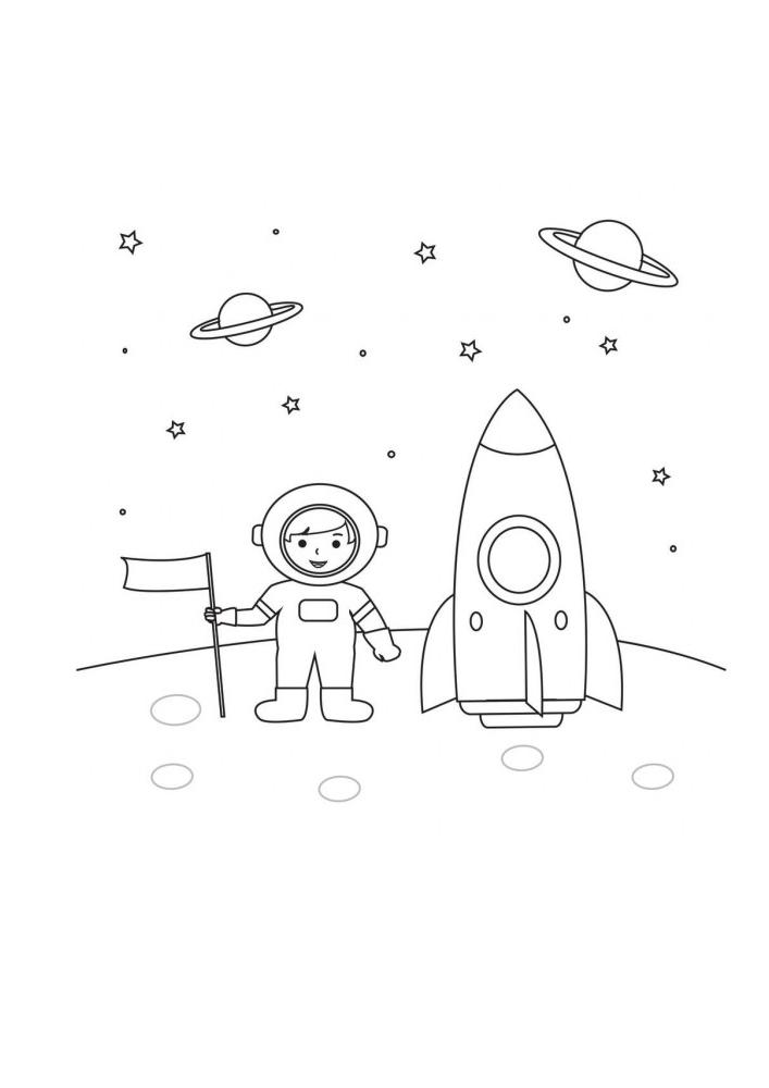 Маленький космонавт прилетел на луну