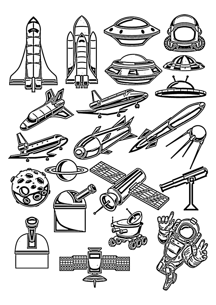 Техника для изучения открытого космоса.
