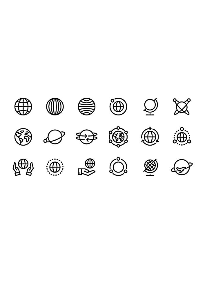 Иконки космических объектов