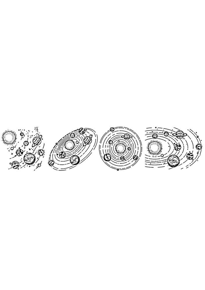 Солнечные системы с разных ракурсов
