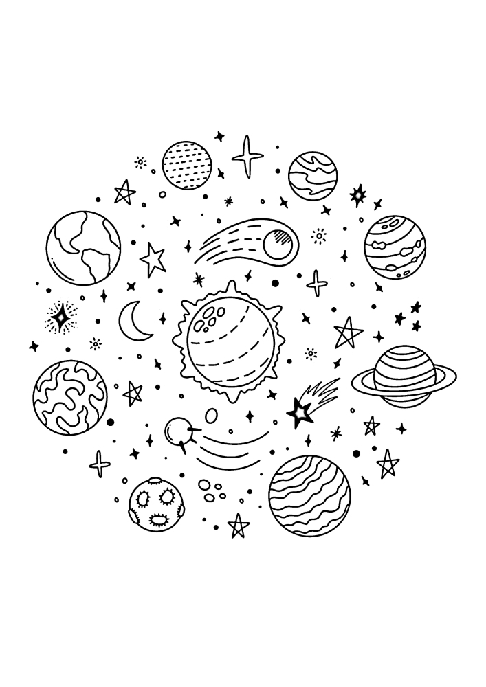 Все планеты кружат вокруг Солнца