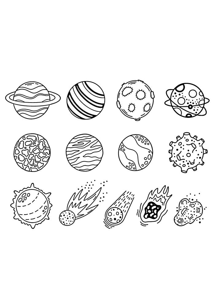 Планеты и кометы