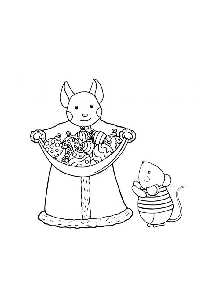 Интересная раскраска с мышками
