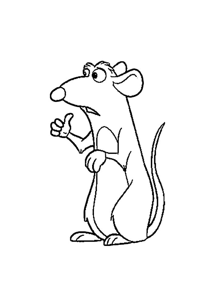 Рататуй - крыса из мультфильма