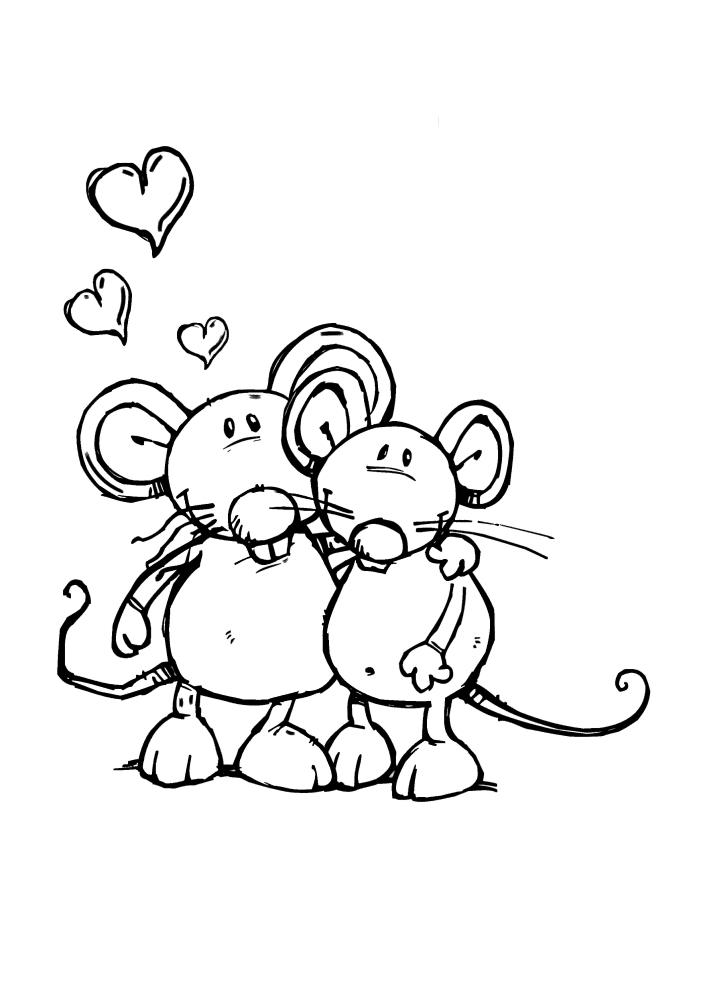 Любовь у мышек