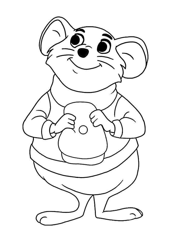 Мышка сняла шляпу