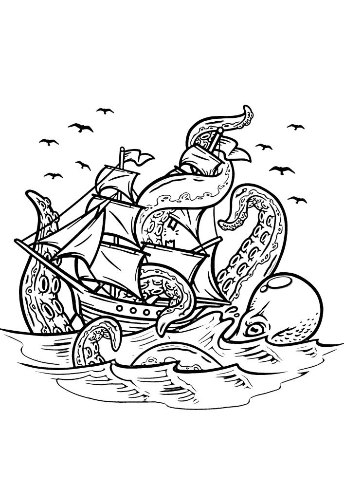 Кракен пожирает любые судна