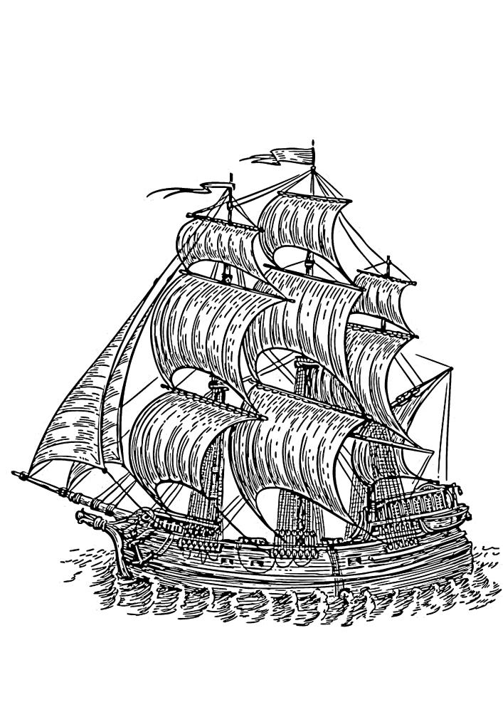 Детализированное судно