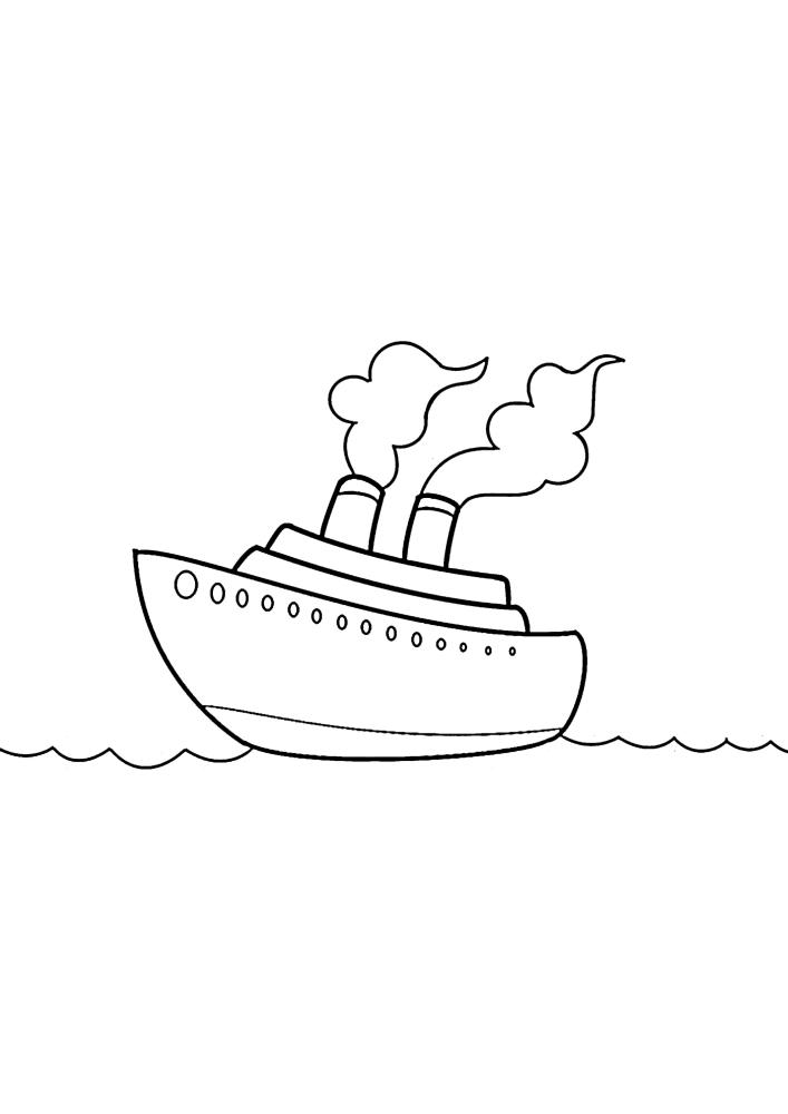 Дымящий лайнер