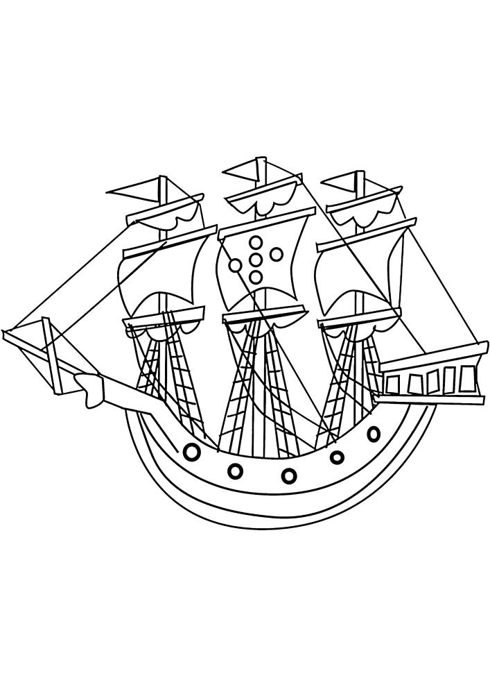 Закругленный корабль