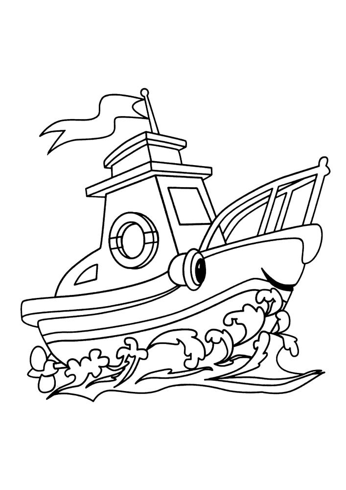 Милый живой кораблик